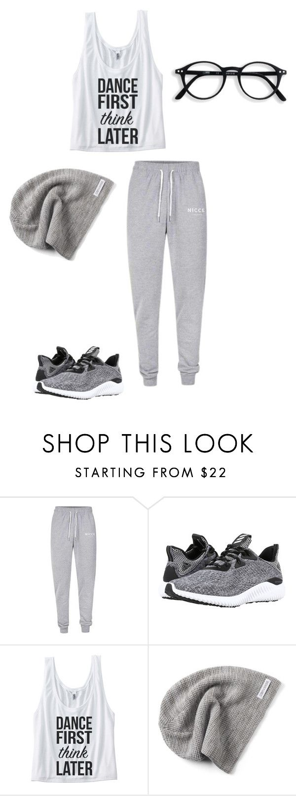 """untitled"" by sirensspeak ❤ liked on Polyvore featuring Nicce, adidas and Converse"