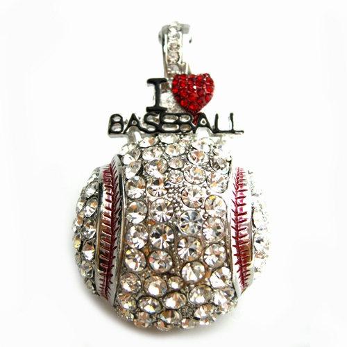 I Love Baseball  Pendant Necklace by kshurling on Etsy, $14.00