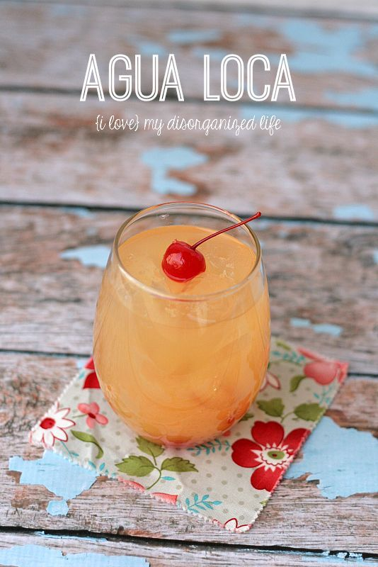 Agua Loca - a fruity cocktail that goes down like water but if not careful will make you 'crazy'! Just 2 ingredients!
