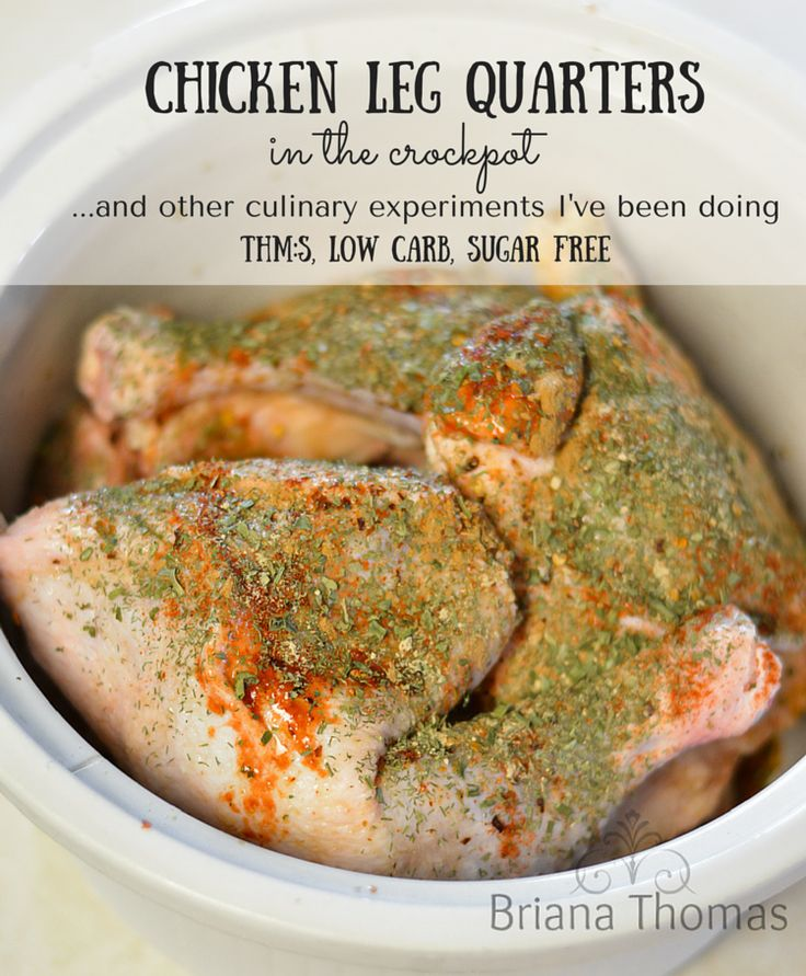 Chicken Leg Quarters in the Crockpot                                                                                                                                                     More