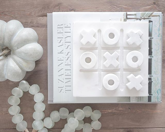 Jshomedesign Crate And Barrel Tic Tac Toe Sea Gl Beads Coffee Table Styling City Living In 2018 Pinterest