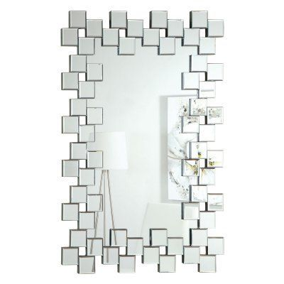 Coaster Furniture Little Squares Wall Mirror - 31.5W x 45.25H in. - 901838