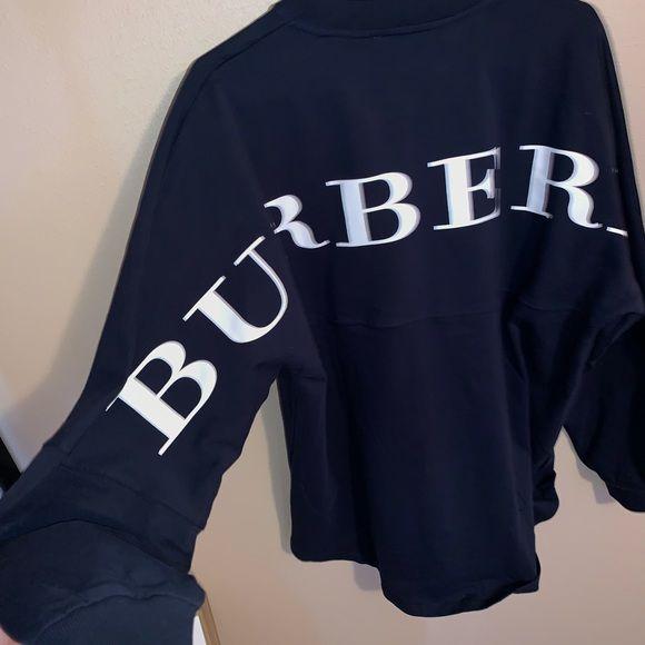 7eab49392915 Burberry back logo sweatshirt Brand new with tags, very beautiful Unisex  top Size medium fits oversized slightly Burberry Tops Sweatshirts & Hoodies
