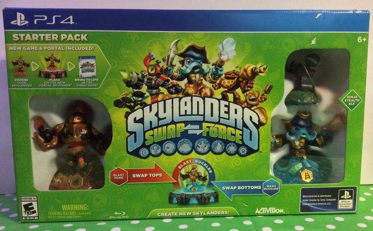 """SKYLANDERS SWAP FORCE PS4 """" STARTER PACK """" #SkylandersSwapForce"""