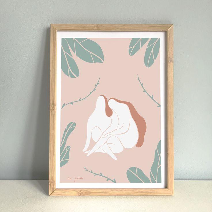 "Print ""Hermanas"" Serie de 10 unidades Papel 250gr Frame, Illustration, Home Decor, Branding, Sisters, United States, Paper Envelopes, Artists, Women"