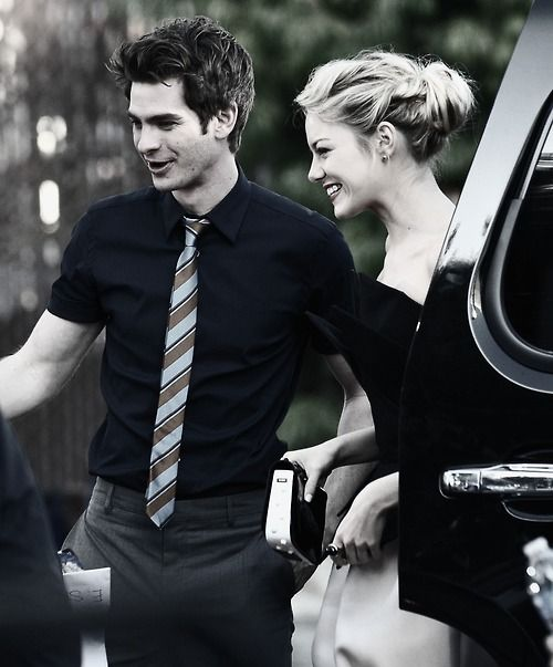 Andrew Garfield and Emma Stone... could they be any cuter?