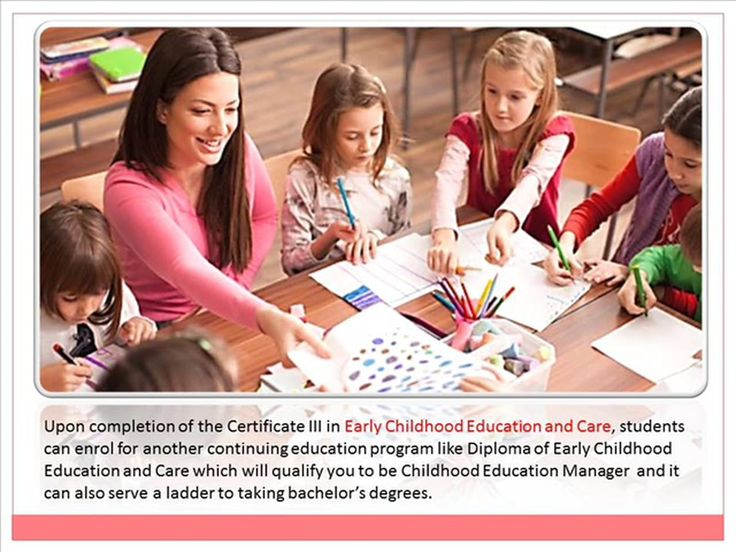 Click here - Click here - http://goo.gl/NiCuFk  Upon completion of the Certificate III in Early Childhood Education and Care, students can enrol for another continuing…