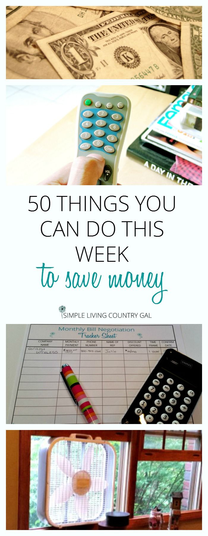 50 ways to save money that you can do right now. Some silly simple some more involved but all are things we are doing right now to save money!  via @SLcountrygal
