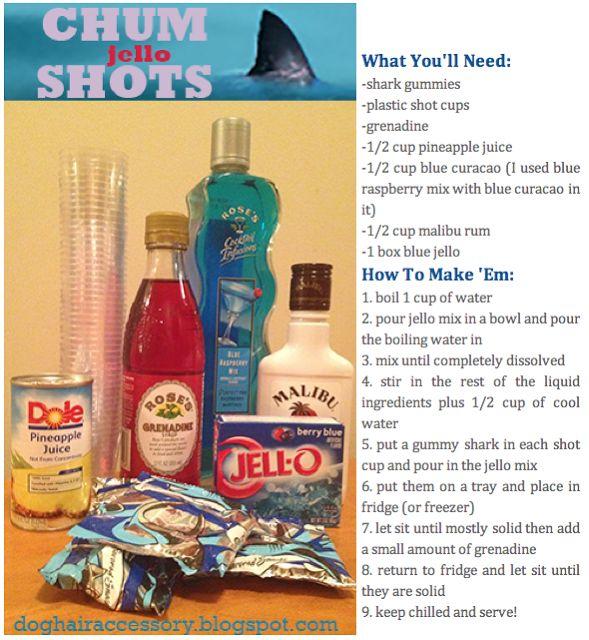SHARK WEEK chum jello shots