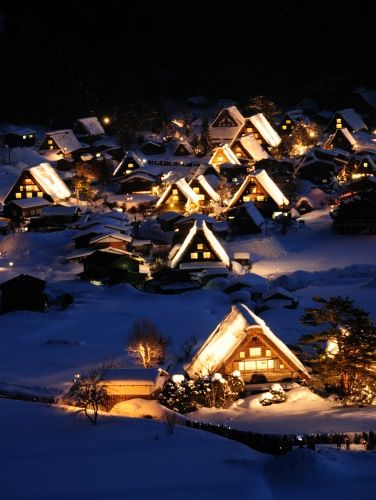 Chalets - Japan: Games Inspiration, Daydreami Places, Dreams Travel, Cabins Chalets, Beautiful Japan, Places I D, Gifu Japan, B Places Leisure, Cozy Cabins