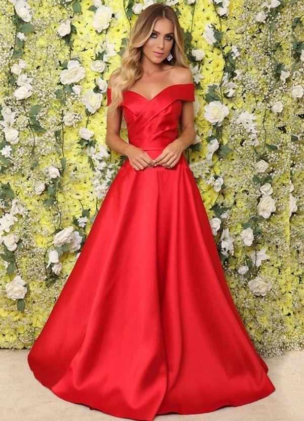 Seleção de vestido de festa longo vermelho Graduation 2d1e80e18a28