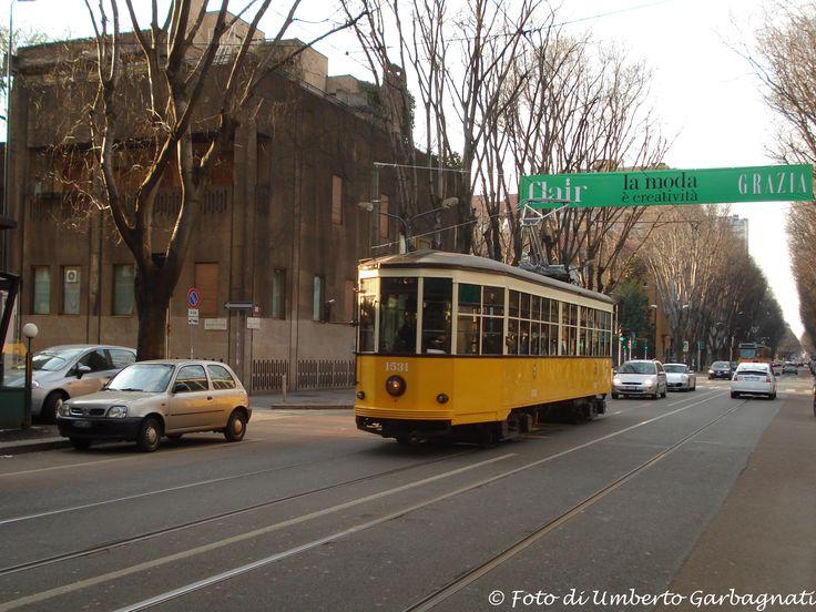 .... vettura (Peter Witt del 1928) versione bicolore, ATM-1531 ....   10 febb 2008 - © Umberto Garbagnati -