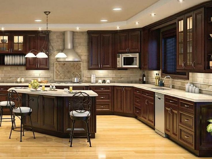 10x10 kitchen designs with island for Kitchen cabinets 10x10