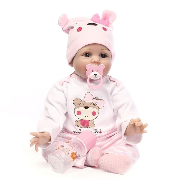 124.60$  Buy now - http://ali16v.worldwells.pw/go.php?t=32720500632 - Free Shipping Cheap Reborn Baby Dolls For Sale Lovely Newborn Girl Baby Dolls Best House Playmate For Child Accompany Partners