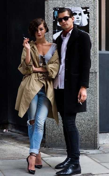 When Michael and Sandrine wander the city, they stroll arm-in-arm. Tumblr - chic couple