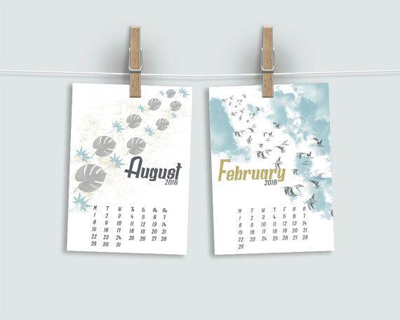 2016 Wall Calendar, 2016 Calendar, Fine Art Calendar, Christmas Gift, Coworker Gift, Hostess Gift, Landscapes Calendar, Nature Calendar  This