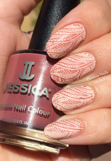 ehmkay nails: Stamping with Jessica Cosmetics Haute Hippie