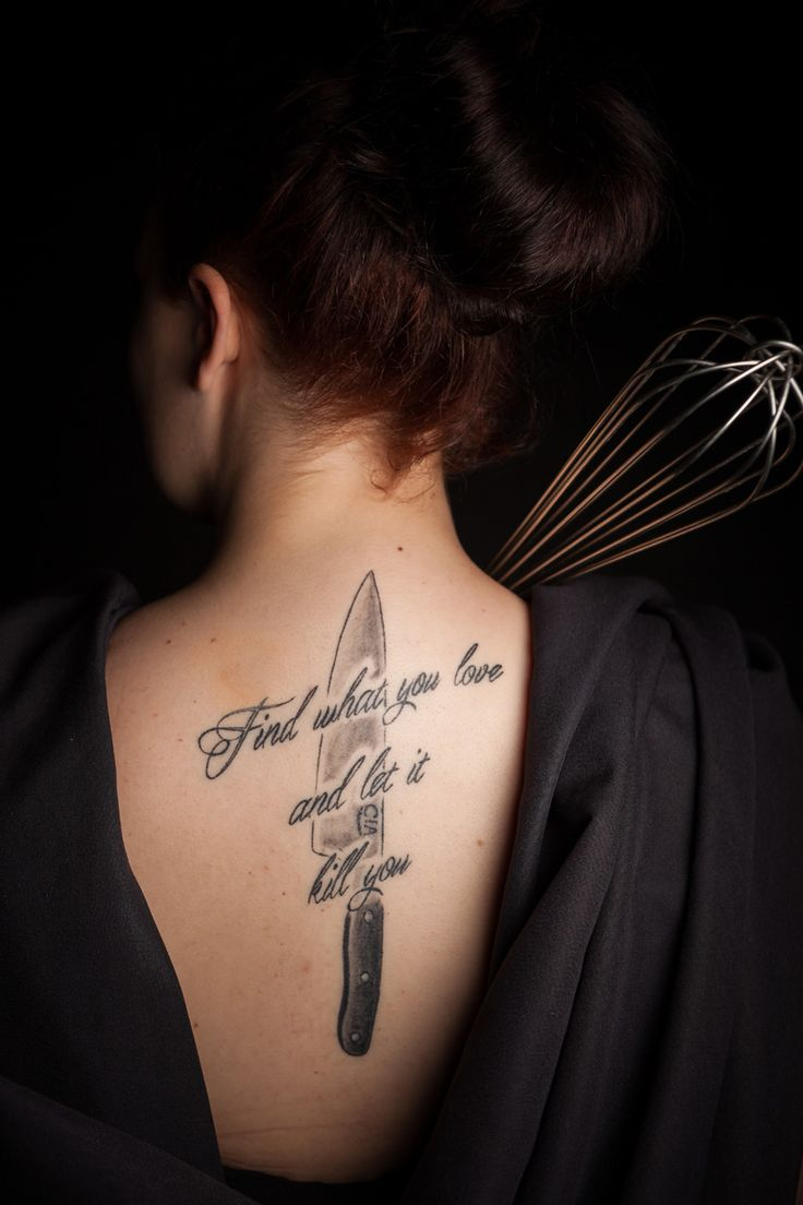 From a studio series of culinary tattoos. Photo by Phil Mansfield