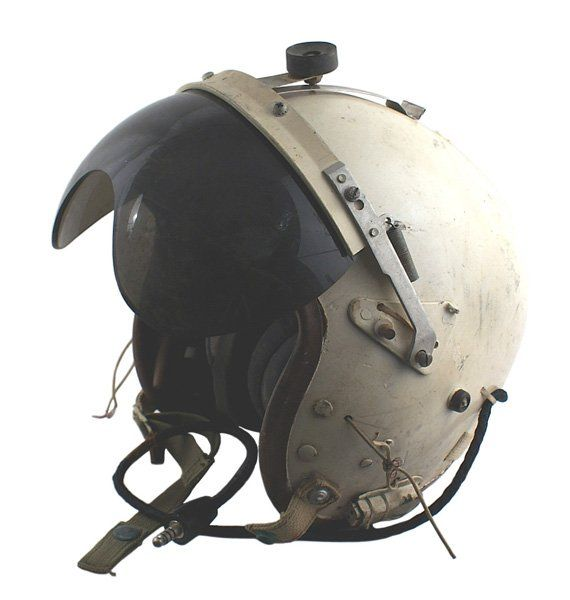 9e97749747 413  U.S. Air Force Vietnam helicopter pilot helmet on