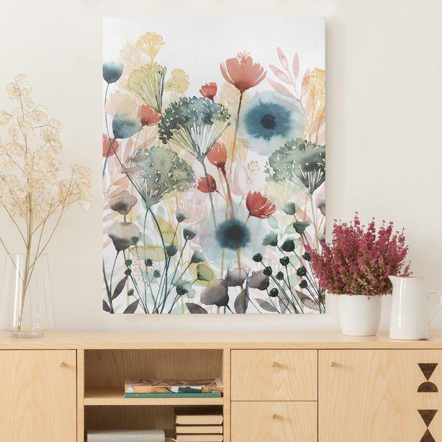 leinwandbild wildblumen im sommer i hochformat 4 3 leinwandbilder bilder wohnzimmer leinwand foto leinwanddruck poster