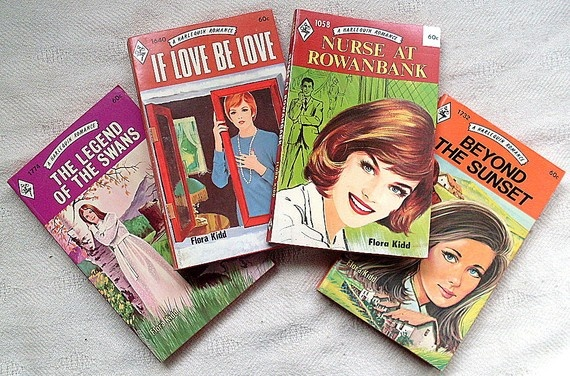 Vintage Harlequin Romance Novel Book Flora Kidd Four 1973 by ddb7, $8.00