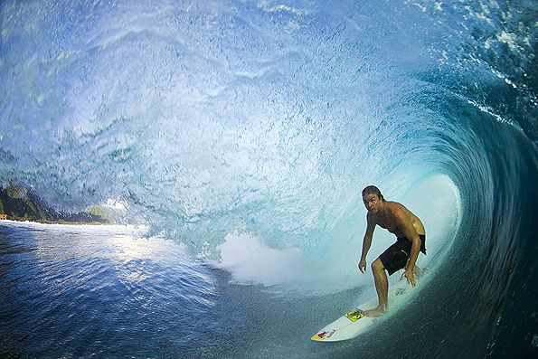 Jamie O'Brien, Tahiti. Photo: Noyle/SPL #SURFERPhotos #SURFER