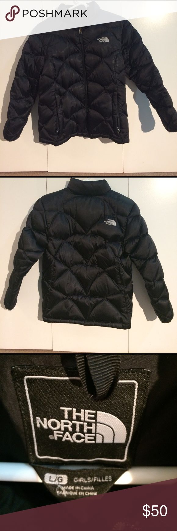 North face puffer winter coat youth L girls North face winter jacket in great condition. Youth L but fits like a woman's small North Face Jackets & Coats Puffers