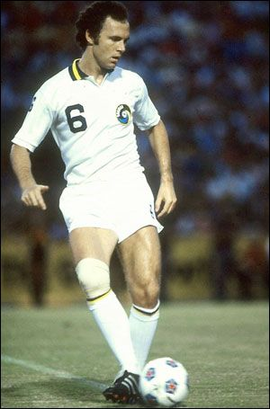 Beckenbauer playing for New York Cosmos