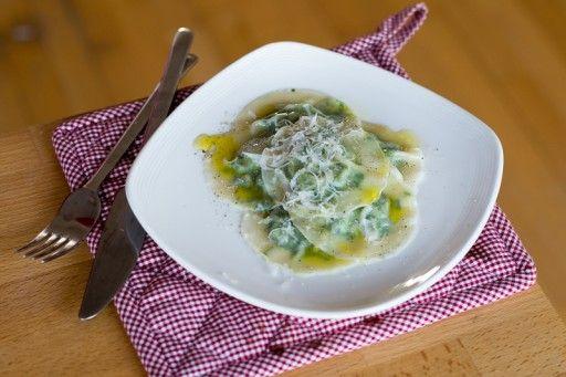 ravioli met spinazie en ricotta