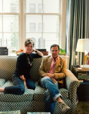 Kate Spade and Andy Spade in their New York home.PNG