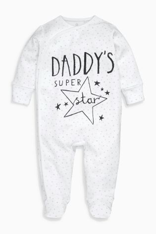 Buy White Daddy Sleepsuit (0-18mths) online today at Next: United States of America