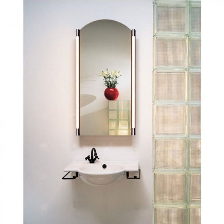 shades bathroom furniture uk%0A Robern Wall Lighting M Series Vertical Vanity Light with Plastic Shade in  Chrome  MPFLPCH