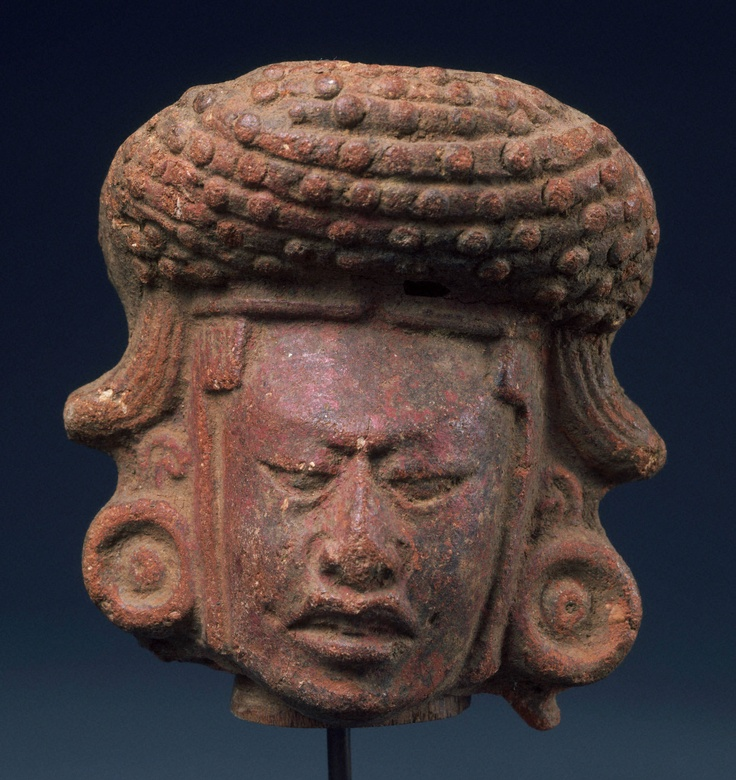 Late Classic, Maya  Head fragment, A.D. 600–900  Molded ceramic with traces of pigment  h. 8.7 cm., w. 7.9 cm., d. 6.2 cm. (3 7/16 x 3 1/8 x 2 7/16 in.)  Place made: Maya area, Guatemala