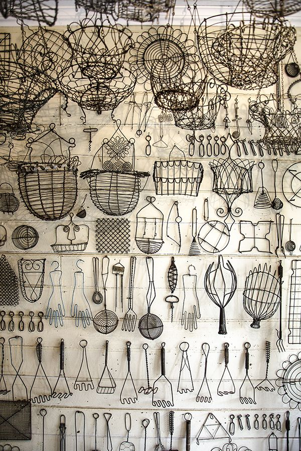 Fabulous wire collection  (by http://www.shadesofgray.net.au ~ though not the photo link)
