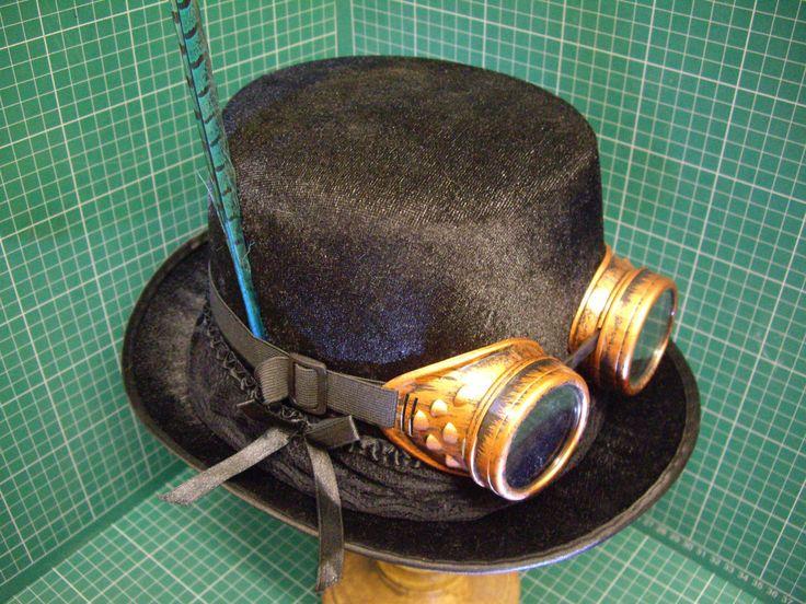 45.06$  Buy here - http://viexo.justgood.pw/vig/item.php?t=7smxm9g21391 - Gotico Steampunk/vittoriano cilindro+occhiali da saldatore Verde 45.06$
