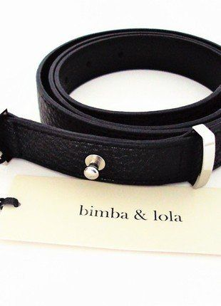 Buy here at #vinteduk http://www.vinted.co.uk/womens-accessories/belts/6293647-belt-bimba-lola-new-black-leather