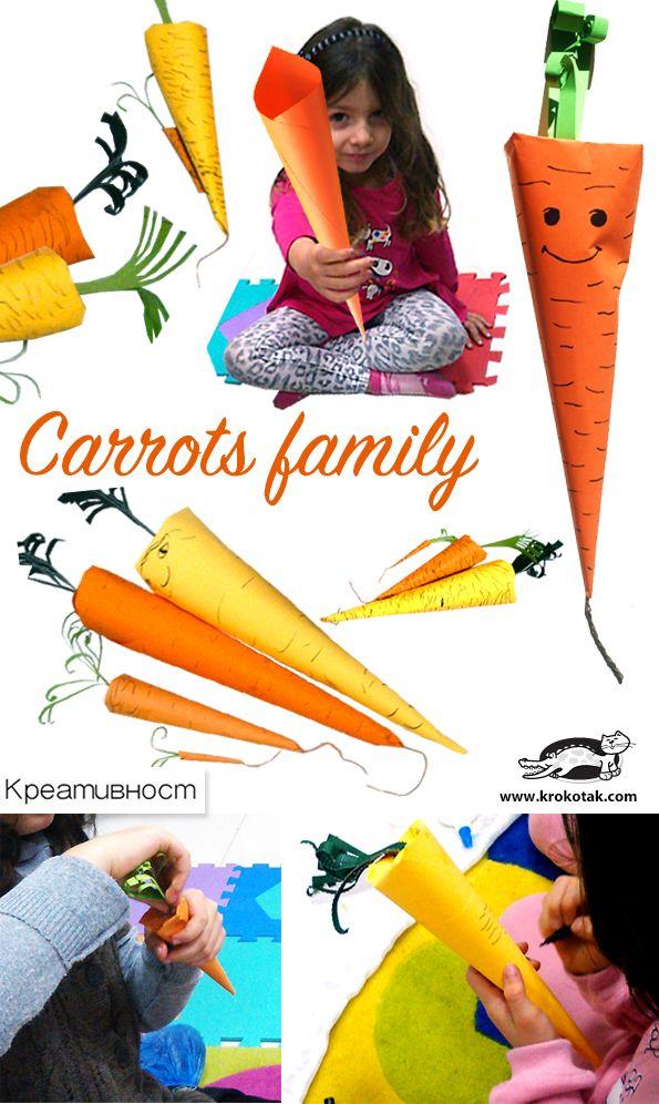 DIY paper carrots