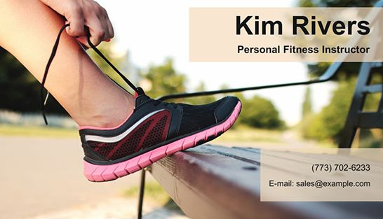 A great trainer business card will help you to make a STRONG impression. Start working with http://business-card-maker.com/download.php and find new aspiring clients! #CardDesign #TrainerBusinessCard