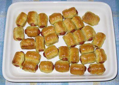 knutsel en freubel: Knakworst in bladerdeeg