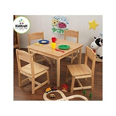 TABLE SET KIDS FARMHOUSE - Is A Darling Furniture Set Famhouse Style Ideal For Your Toddlers And Young Children A 5-Piece Table And Chairs For Activities Tea Parties Colouring In Wood Kids Love Furniture Built To Size For Their Age