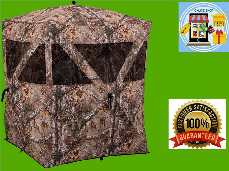 Ground Camo Hunting Realtree Hub Blind Deer Blind Shadow Guard Care Taker New  #HubBlind