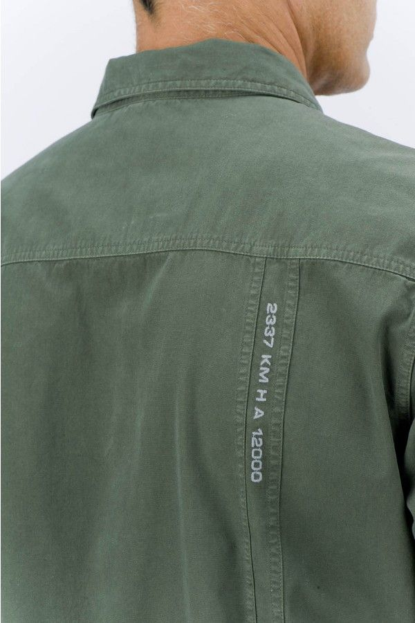 Aeronautica - Incorporating text into a military shirt through embroidery references the symbolic nature of a dog tag and creates a nostalgic reminiscence of individual war stories. Credit: aeronaticaofficialstore.com