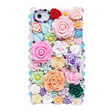 Colorful Fiori modello dei monili del metallo di caso per il iPhone 5/5S – EUR € 10.39