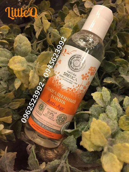 Sản phẩm dành cho độ tuổi sau 25 cho làn da được cải thiện khỏi quá trình lão hóa Nước hoa hồng chiết suất hữu cơ Anti-age Natura Siberica #naturasiberica#anti
