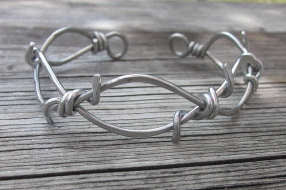Barbed Wire Cuff Bracelet- UNISEX