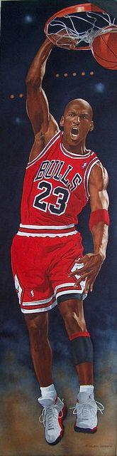 Michael Jordan by artist Glen Green #Sports #Art http://www.asportinglife.com/