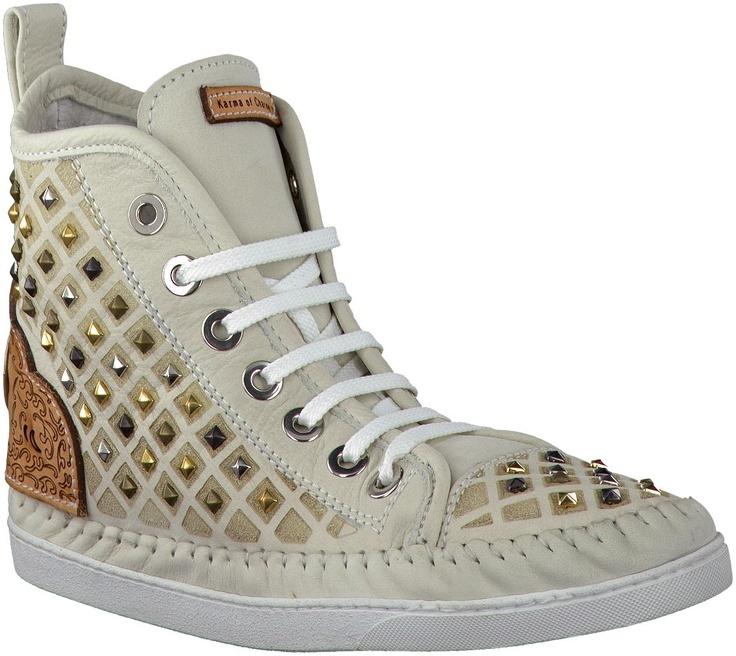 Gebroken-witte Karma of Charme sneakers KARMINA BRILLIANT