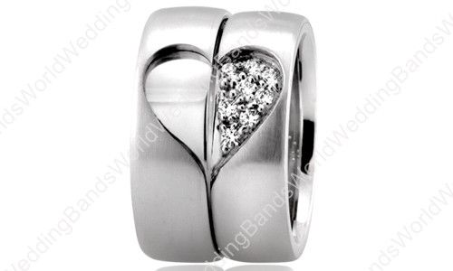 His and Her Wedding Ring Set 7.00mm Wide and 2mm Thick PLT-HH6010
