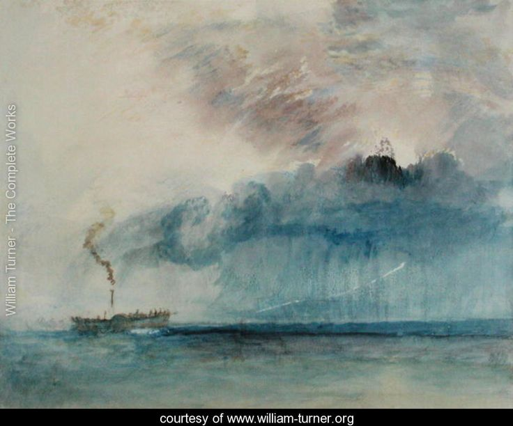 Steamboat in a Storm,...can feel the rain coming.. c.1841 - Joseph Mallord William Turner - www.william-turner.org