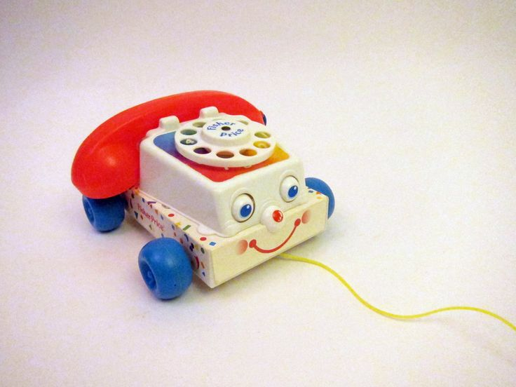 Vintage Fisher Price Chatter Telephone Rotary Dial Phone Vintage 80s Toy